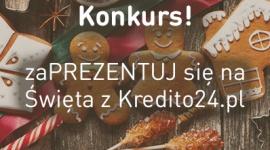 """Kredito24.pl prezentuje na święta LIFESTYLE, Finanse - Ruszył konkurs: """"zaPREZENTUJ się na Święta z Kredito24.pl"""". Zadanie polega na przesłaniu rodzinnego zdjęcia związanego z tematyką Świąt Bożego Narodzenia i zamieszczeniu go na profilu Kredito24 na facebooku. Na uczestników czekają atrakcyjne nagrody."""