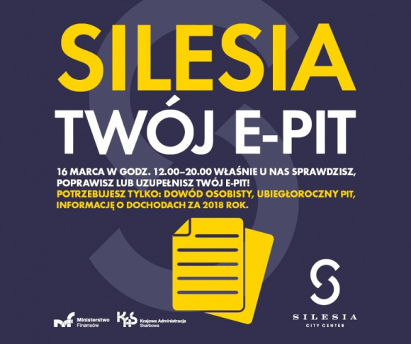 Twój e-PIT w Silesia City Center LIFESTYLE, Finanse - Twój e-PIT w Silesia City Center