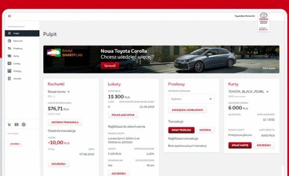 Nowa bankowość internetowa oraz sposób autoryzacji transakcji w Toyota Bank LIFESTYLE, Finanse - Toyota Bank Polska wdrożył nowy system bankowości internetowej oraz nowy sposób autoryzacji transakcji – aplikację mobilną.