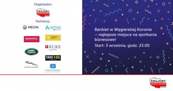 Węgierska Korona w rękach KRD LIFESTYLE, Finanse - Krajowy Rejestr Długów przejmuje od Deutsche Banku kultowy bankiet w Węgierskiej Koronie podczas XXIX Forum Ekonomicznego w Krynicy-Zdroju.